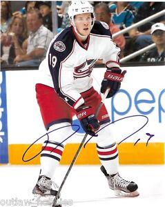 Columbus-Blue-Ryan-Johansen-Signed-Autographed-8x10-Photo-COA-C
