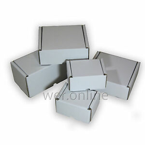 White-Postal-Cardboard-Boxes-Multi-Listing-Small-Mailing-Shipping-Cartons