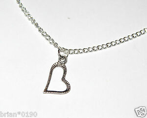 A-Brand-New-Silver-Fashion-Jewelry-2-in-1-Heart-Necklace