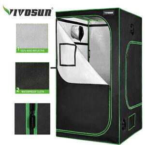 "VIVOSUN Grow Tent 4'x4'Reflective Mylar Hydroponic w/ Window Floor 48""x48""x80"""