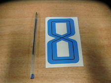 GUY MARTIN race number 8 - Blue & Black Sticker / Decal 100mm