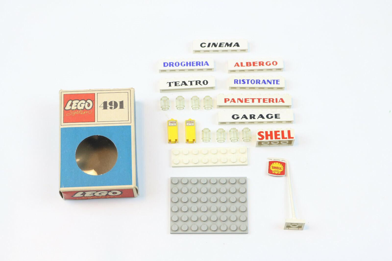 LEGO SYSTEM VINTAGE SET 491 SHELL BENZINA DISTRIBUTORE LEGOLAND OLD TOY '60