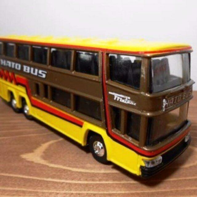 Yonezawa Spielzeugs Hergestellt in Japan Diapet B-47 Double Decker Hato bus 1 75 mit
