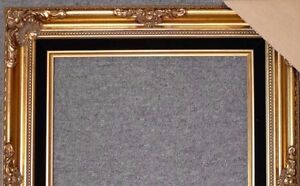 Antique-Gold-Ornate-Wood-Picture-Frame-With-Black-Velvet-Liner-B5GB