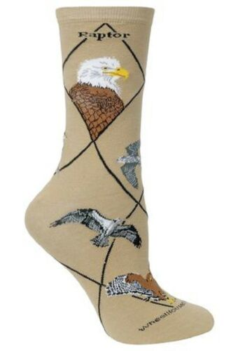 Raptor Socks Sizes 9-11 /& 10-13  Khaki Color Eagle Hawk