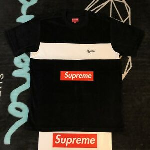 9b8440c4 SUPREME CHEST STRIPE TERRY TOP (BLACK) (LARGE) SS18 NORTH FACE ...