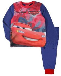 Disney-Cars-Polar-Fleece-Langarm-Pyjama-Schlafanzug