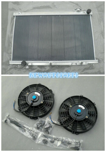 3 Row Aluminum Radiator+Fans For Infiniti G35 3.5L 2003-2007 2004 2005 2006 AT//M