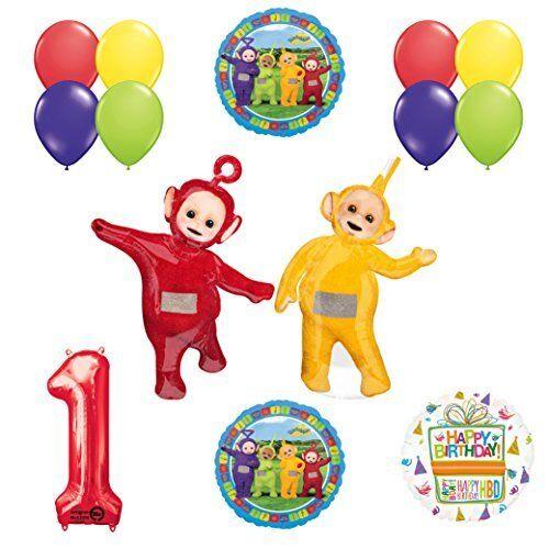 Teletubbies 1st birthday LAA-LAA /& PO Balloon Birthday Party  supplies