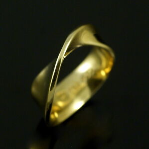 Image Is Loading Georg Jensen 18k Gold Ring 900 Mobius Vivianna