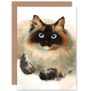 Cat-Ragdoll-Face-Watercolour-Card-With-Envelope