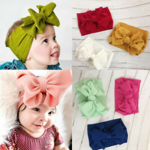 Kids-Girl-Baby-Headband-Toddler-Bow-Flower-Hair-Band-Infant-Headwear-18-Colors