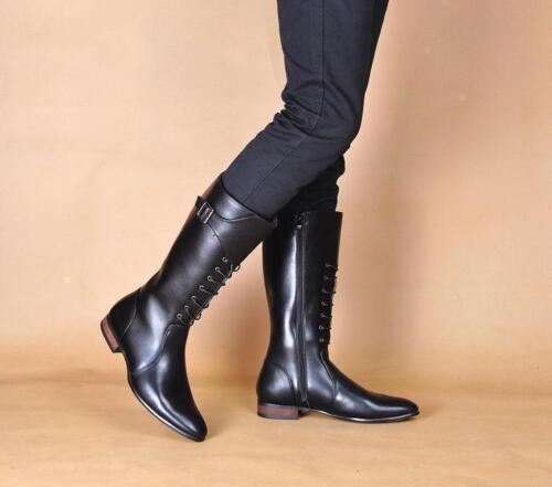 Side ginocchio Zip New sp lungo Cowboy Retro Stivali Cavaliere alto Mens equestri equitazione XEwtqptZ