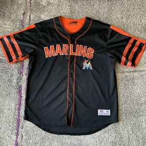 True-Fan-Mlb-Miami-Marlins-Baseball-Jersey-Mens-XL