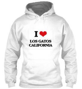 I Love CaliforniaStandard Hoodie College Los Gatos yNPv8nm0wO