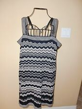 ~MISSONI for Target~ZIG-ZAG~Black&White Knitted Lined Strappy Dress size XL~CUTE