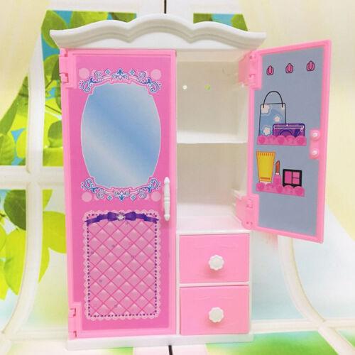 Prinzessin Schlafzimmer Möbel Schrank Kleiderschrank für Puppen Spielzeug  WGSP
