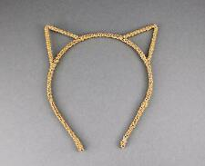 Gold Orange cat kitten ears headband hair band accessory kawaii cosplay