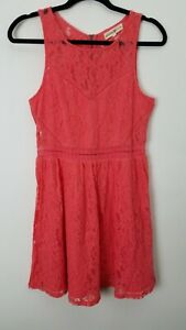 Altar-039-d-State-Womens-Dress-Size-Large-Coral-Pink-Lace-Sleeveless-Sundress