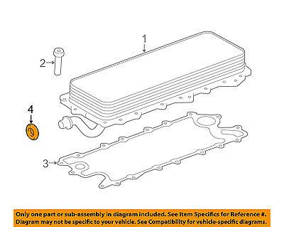 GENUINE LAND ROVER OIL COOLER OUTLET PIPE SEAL 5.0L /& 5.0L SC V8  NEW LR030593