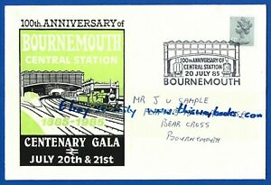 Railway-Postal-Cover-039-Bournemouth-Central-Station-Centenary-Gala-1885-1985-July