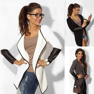 Women's Casual Knitted Long Sleeve Knit Knitwear Cardigan Sweater Coat Outwear