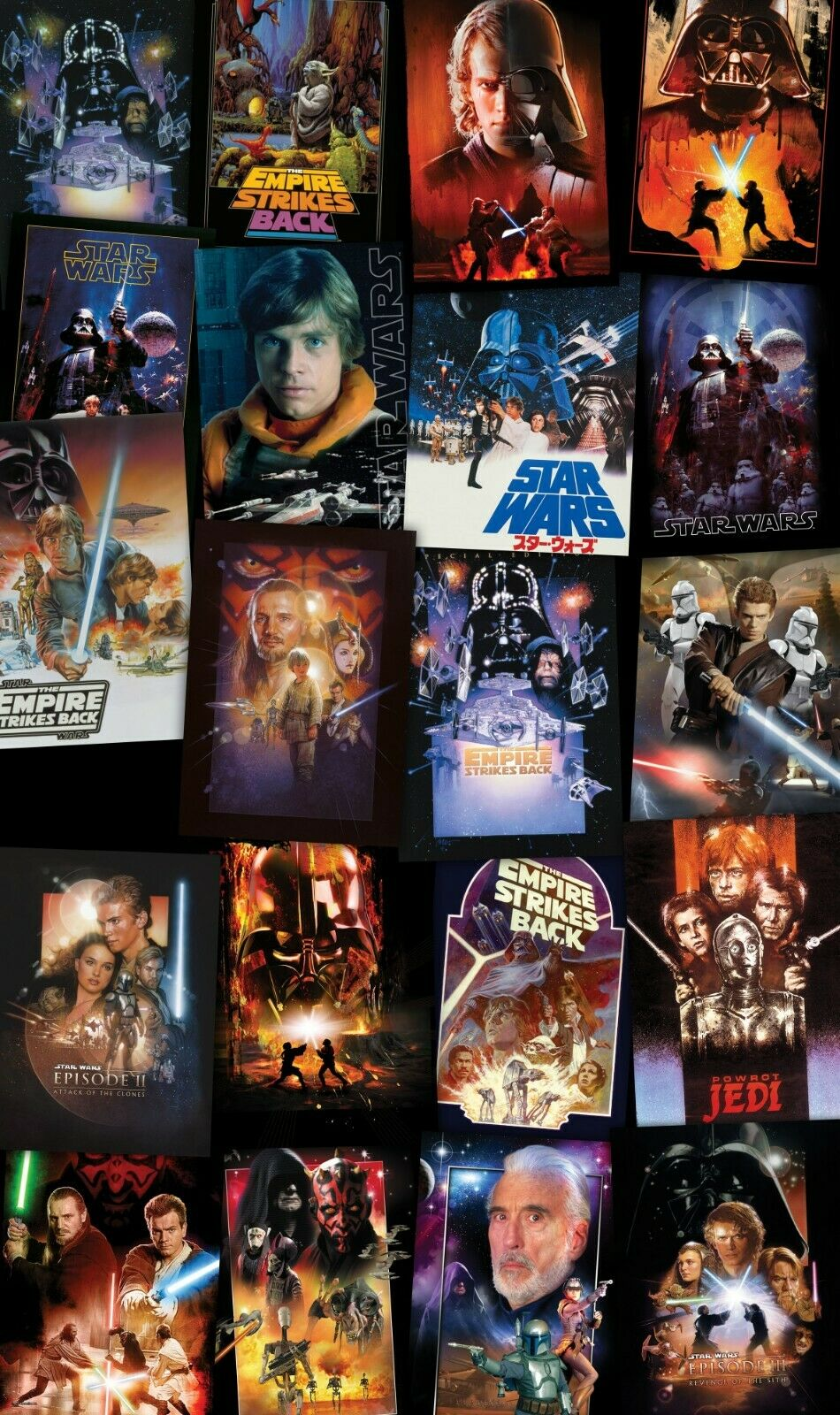 200x120cm Large wallpaper Easy to Install Star Wars Collage wall mural poster