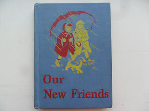 Dick-and-Jane-Book-034-Our-New-Friends-034-1946-2nd-Printing-CLEAN-w-SHARP-CORNERS
