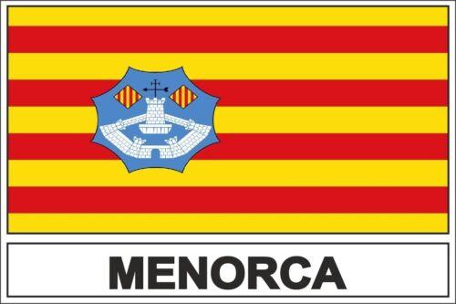 Autocollant sticker drapeau  minorca minorque