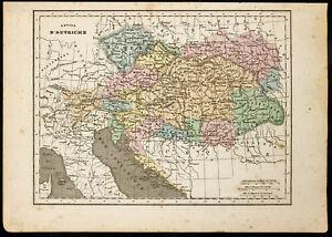 1850ca-Landkarte-Geografische-Antike-L-039-em-Schlimmer-D-039-Autriche-By-Monin