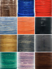 Flat 3mm Real Jewellery Craft Leather Thong Cord String Lace 100% Genuine