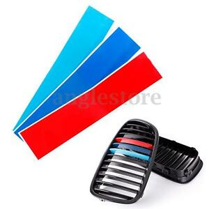 MColored Kidney Grill Stripe Decal Sticker Decoration For BMW - Bmw m colored kidney grille stripe decals