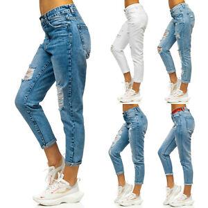 Jeans Freizeithose Hose Denim Clubwear Casual Classic Damen