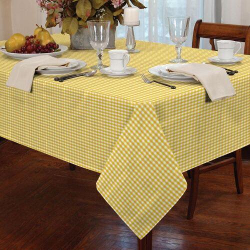 """Vichy carreaux jaune blanc rectangulaire 54X72"""" 137X183CM table cloth"""