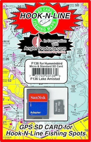 Angler Pastaucts Uploadable pesca calientespots for Lake Amistad, TX  HookNLine Map