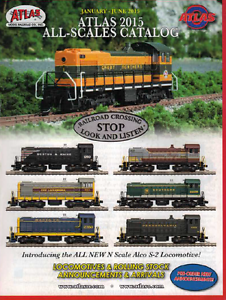 ATLAS ALL-SCALES MODEL RAILROAD CATALOG JAN-JUN 2015 | NOS | TMS-1024