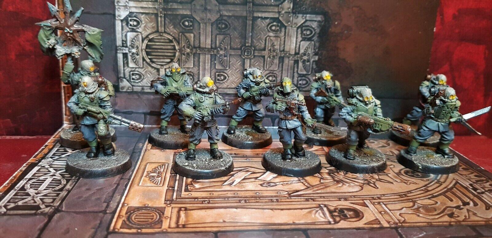 Renegade milicia escuadrón de infantería Pintado Raro conversión Warhammer 40k