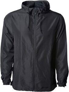 Global-Blank-Men-s-Lightweight-Windbreaker-Winter-Jacket-Water-Resistant-Size-M