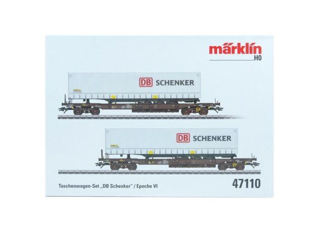 """Märklin H0 47110, Taschenwagen-Set """"DB Schenker"""", neu, OVP"""