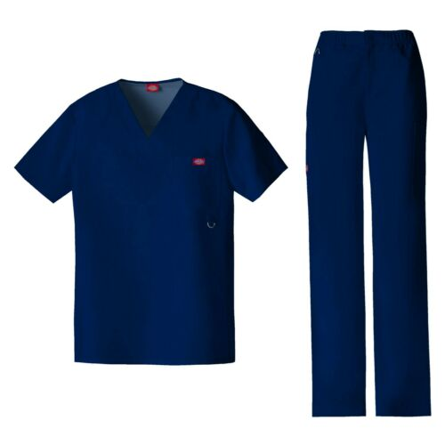 Dickies Scrubs Set XTREME STRETCH Men/'s V-Neck Top /& Pull-on Pant 81910//81210