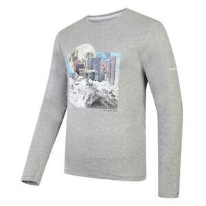Dare2b-Mens-T-Shirt-Summer-Running-Gym-Coalesce-Cotton-Graphic-Grey-Long-Sleeve