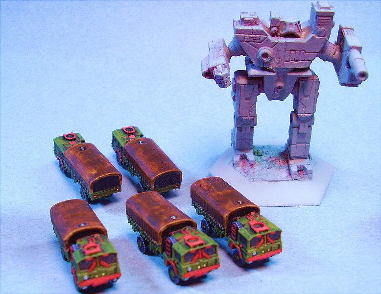 Ghq Miniatura camiones adecuados para Battletech Rg (5)