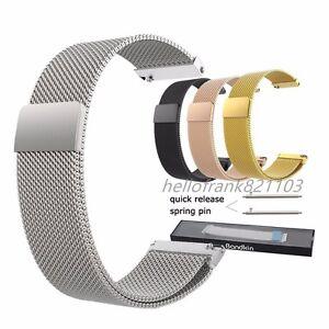 16mm-18mm-20mm-22mm-23mm-Milanese-Loop-Bracelet-Stainless-Steel-Watch-Band-Strap