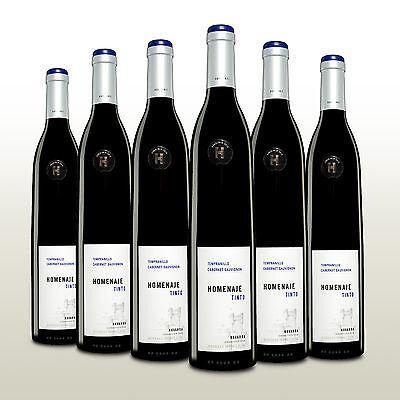 6 Fl. Homenaje Tinto 2015, Rotwein trocken, Tempranillo aus Spanien, Wein