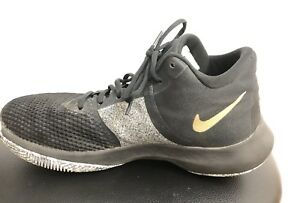 10d1454302a Nike Air Precision II 2 Black Gold Men Basketball Shoes Sz 8.5 ...