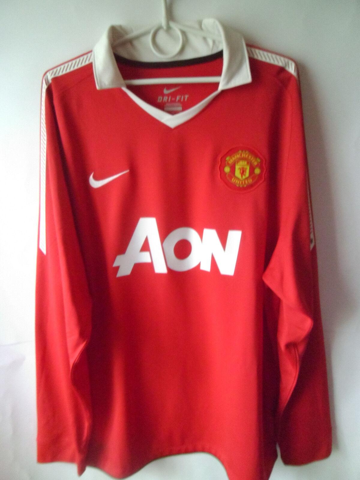 EXCELLENT    2010-11 Manchester United Home Shirt Jersey Trikot XL