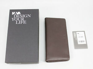 Lady Double N Braun leather Fukasawa Wallet Geldbörse Nava Nl437bw 110 Naoto xnpwUZIqO