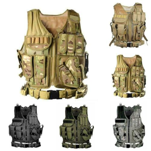 Field outdoor Tactical Vest SWAT Police Military Airsoft Combat Assault Hun T2H6