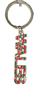 Wales-Cymru-Mosaic-St-Davids-Chrome-Plated-Key-Ring-Souvenir