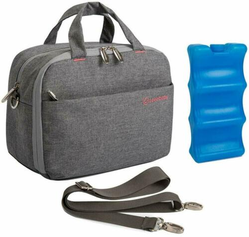 Lekebaby Insulated Baby Bottle Cooler Bag For 6 Baby Breastmilk Bottles With
